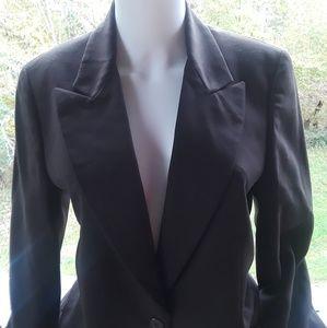Calvin Klein Wool BROW Carier Linen Blazer 6
